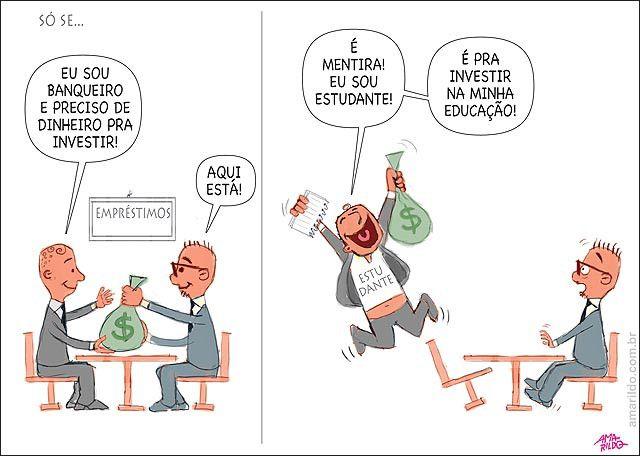 Estudante se finge de empresario para pegar dinheiro emprestado com o governo para estudar...