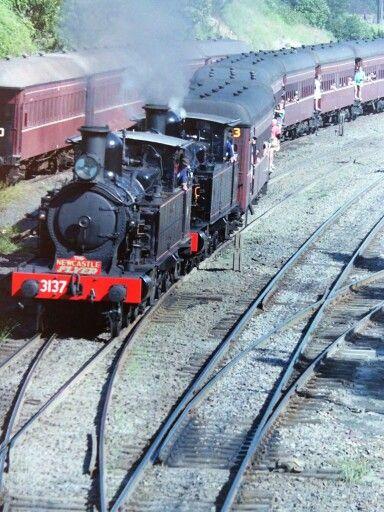 Newcastle Flyer 2 steam locomotives