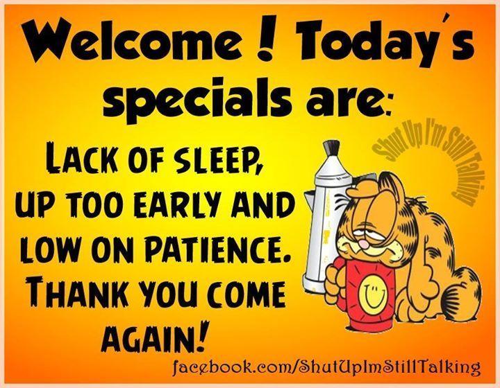 Todays Specials Joke funny quotes quote jokes garfield lol