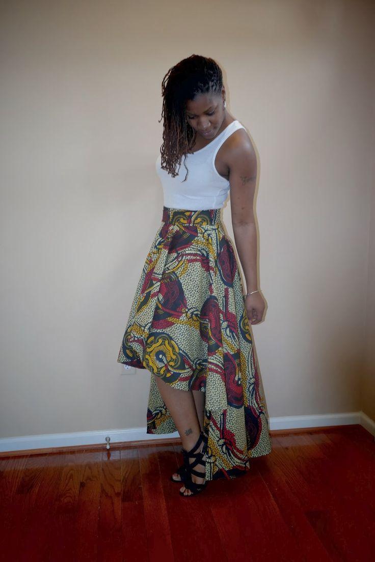 Needles and Fashion: DIY Ankara High Low Circle Skirt