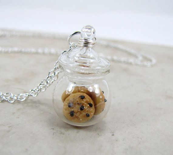 Chocolate Chip Cookie Jar miniatura alimentos por MapleMoonDesigns