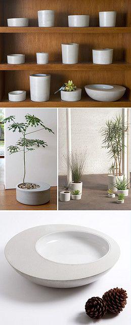 Concrete planters
