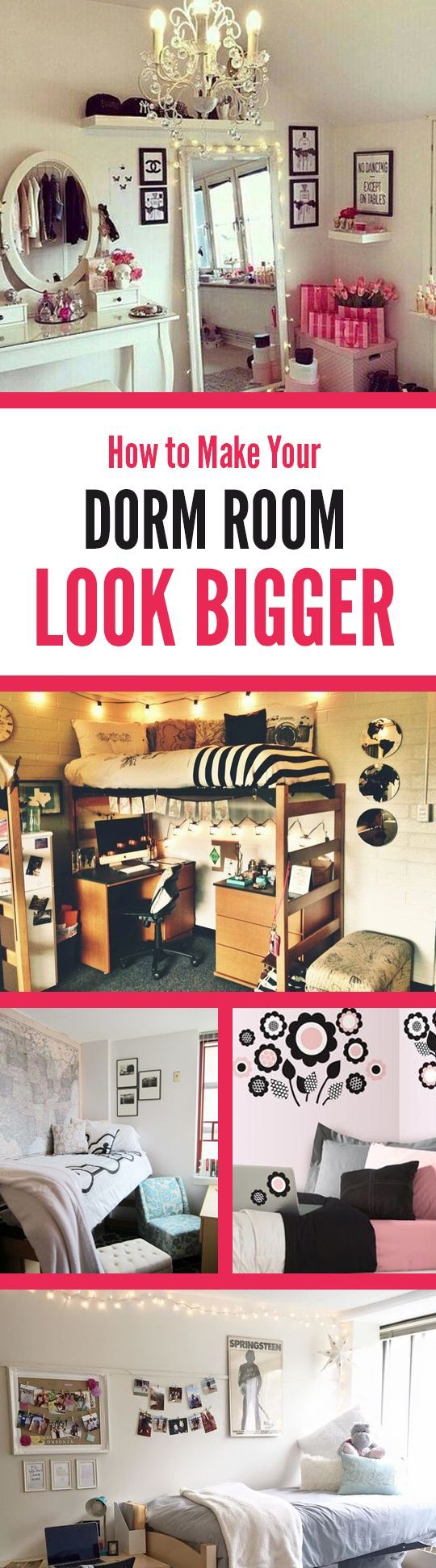6 Tips to Make your Dorm Room Look Bigger // Great ideas for your Baylor dorm in here!