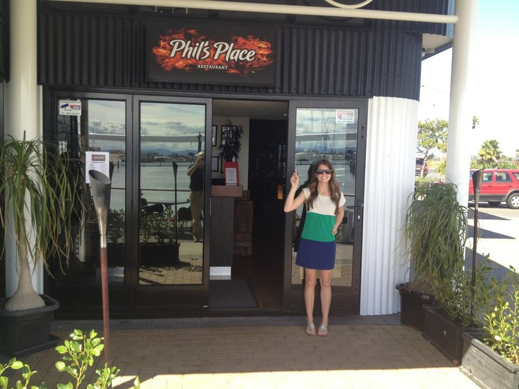 Phil's Place in Tauranga, New Zealand. Came all the way from NC to eat here.