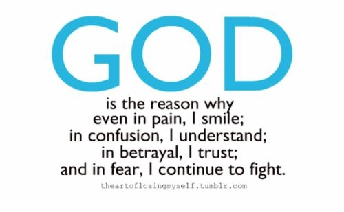God is the reason ....