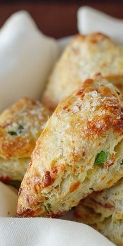 Savory Scones with Gruyere, Prosciutto and Green Onion | Kitchen Confidante