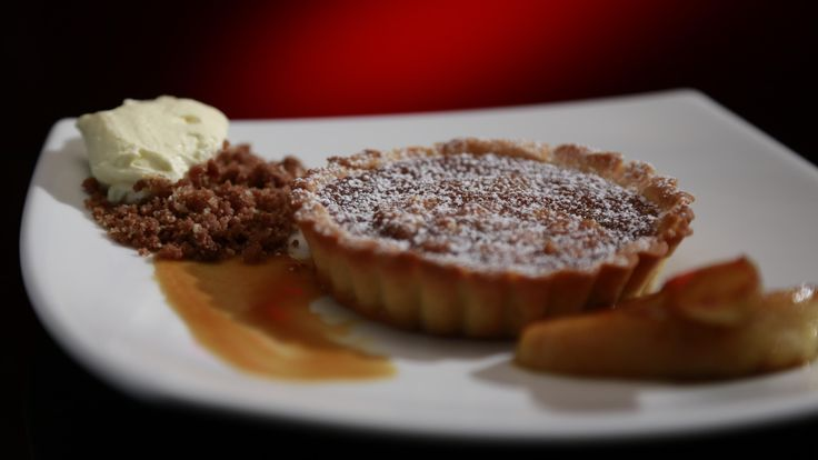 Cathy and Anna's Macadamia Tartlets with Caramelised Apple: http://gustotv.com/recipes/dessert/macadamia-tartlets-caramelised-apple/