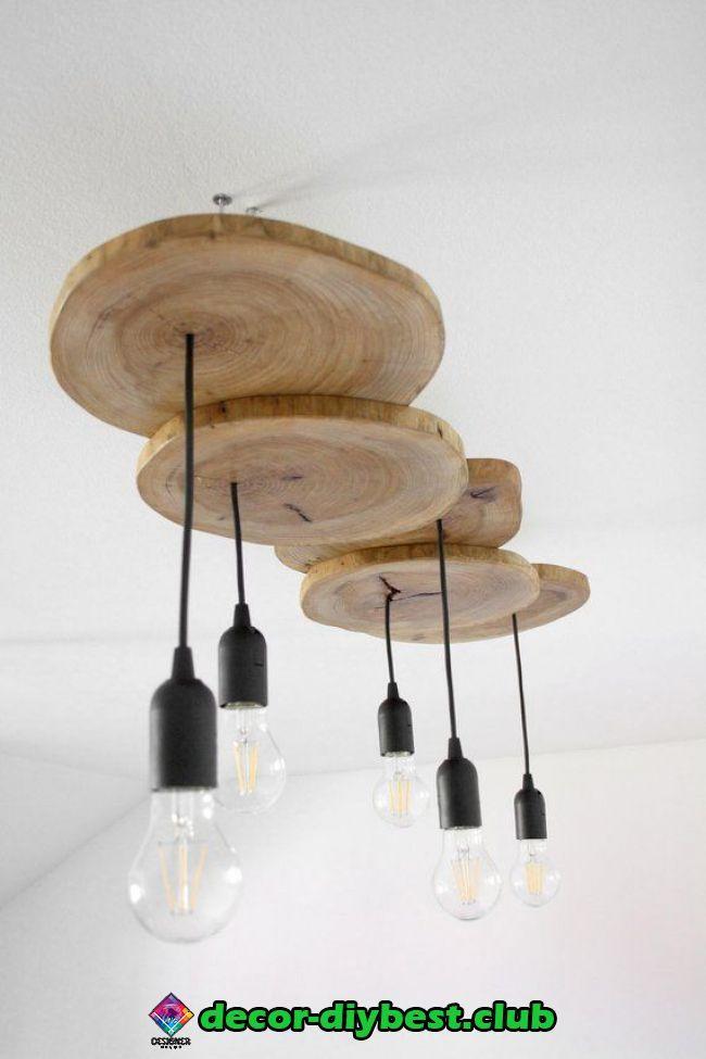 Diy möbel Diy möbel   Bedroom light fixtures, Wooden pendant