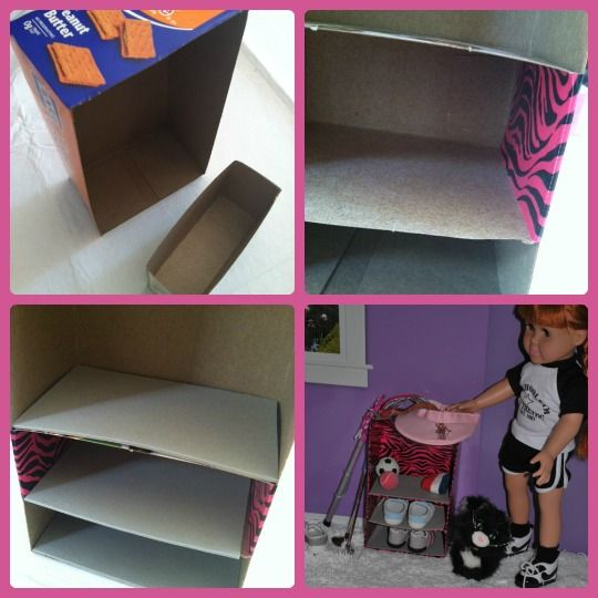 Doll Play Day 36 Recycle Empty Boxes Into Shelves Diy