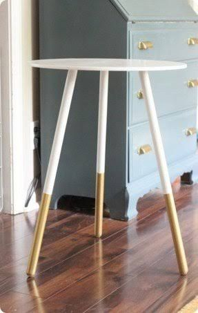 Image result for gold dipped half round table
