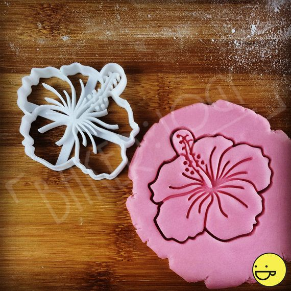 Hibiscus Flower cookie cutter biscuit cutters Tropical by Made3D