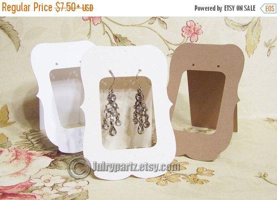 Amore Sale: 20 Lg ZOE Window  2.5 x 3.5 inch Tent Cards•EARRING CARDS•Jewelry cards•Earring Display•Earring Card•Earring Holder•stud card•bu
