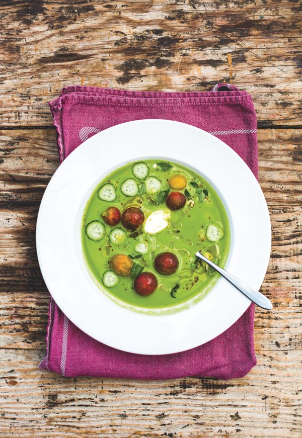 Try this Chilled Cucumber Soup with Basil Mint and Buttermilk recipe # ...