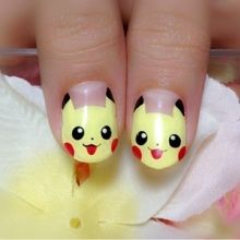 Nail art of Pikachu!!!