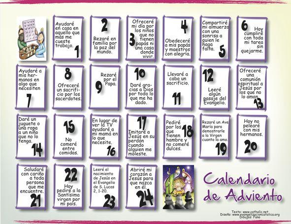 Calendario de #Adviento.