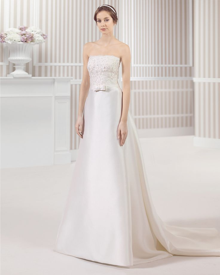 8S180 LOU | Wedding Dresses | 2015 Collection | Luna Novias (Shown without short sleeve off shoulder Lace Jacket)