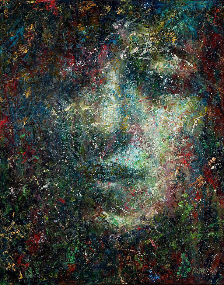 Kosiec Małgorzata, Notturno, olej, płótno, 92 x 73 cm.