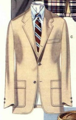 It wasn't too long ago that Brooks Brothers catalogs contained more illustrations than actual photographs. Their illustrated sack jacket sticks out in my mind as having one of the most perfect sack silhouettes that I have ever seen. The proportions and the lapel rolls are great, but the shoulders are simply perfect. I bet that ...