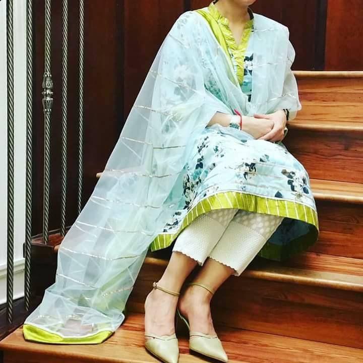 Light pastel colour for summer casual punjabi suit