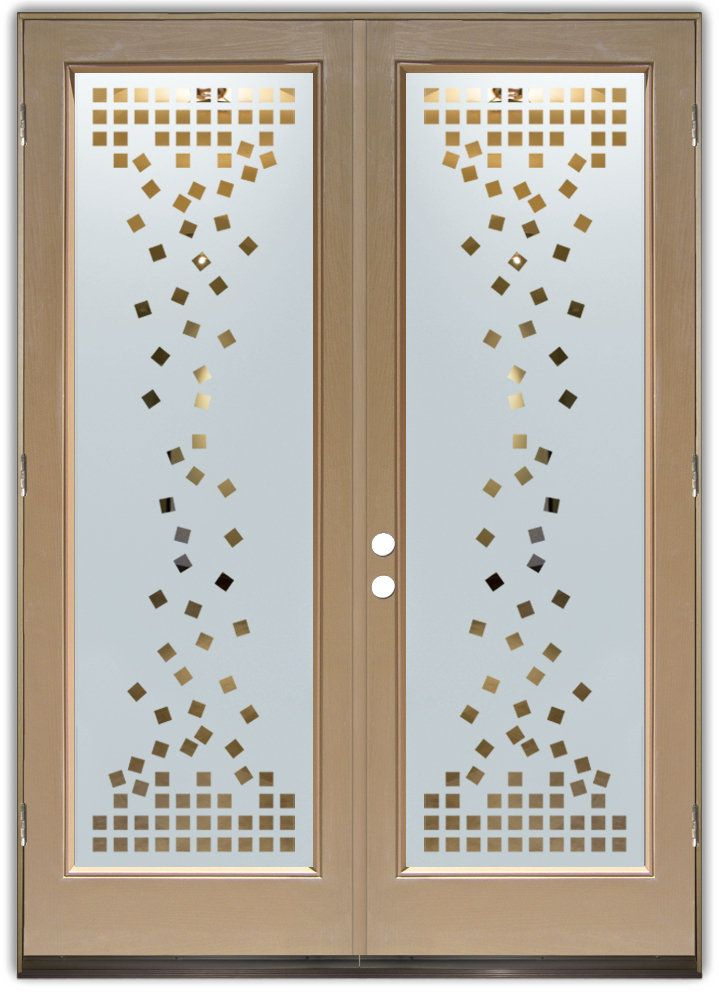 Falling Squares Etched Glass Front Doors Art Deco Design With Beautiful  Etched Designs! Block The View, But Brighten The Look With An Etched Glass  Door.