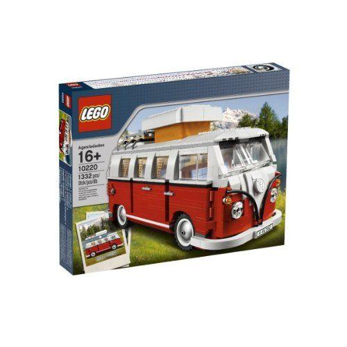 LEGO VW BUS Van Camping Bulli T1    Genau 1332 Lego Teile fügen diesen VW T1 Bulli mit C ...