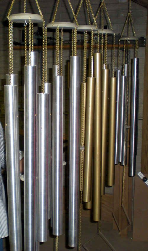 Easy DIY Chimes Say it with CHIMES! Design and Build  Tubular Bell Chimes Tubes, Pipes or Rods. Chimes by Chuck, from Columbus, Ohio