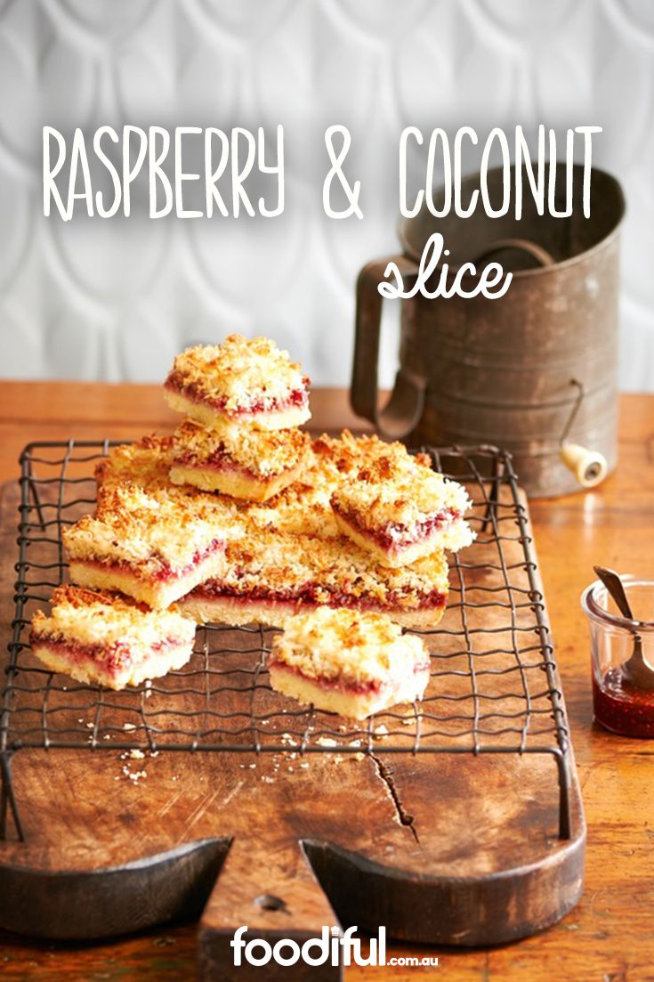 One of the most traditional coconut slices, the raspberry & coconut slice will be an absolute hit! This recipe uses raspberry jam, and is totally easy. It takes 1 hr and 15 mins and serves 10 people.