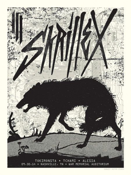 Skrillex Concert Poster Nashville TN by SubjectMatterStudio