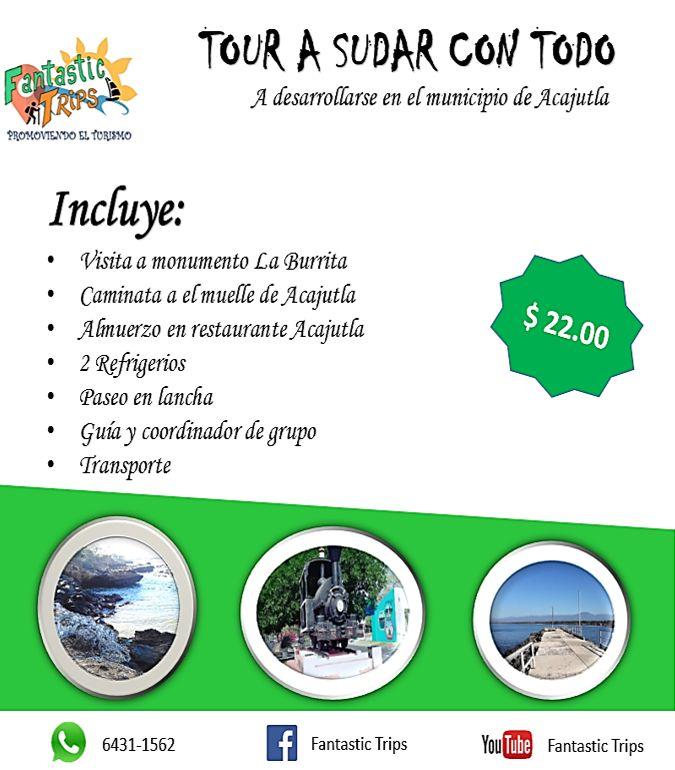 Paquete turístico que se desarrolla en el municipio de Acajutla departamento de Sonsonate, ideal para disfrutar un día de playa