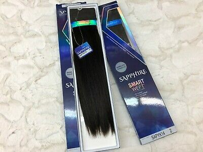 Details about 2 Packs of 14″ SAPPHIRE SMART Weft Vivica A Fox 100% Remi Human WEAVE Hair #2