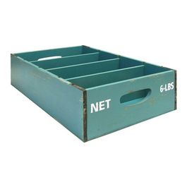 Blue Slotted Crate Traditional Storage Bo Hobby Lobby