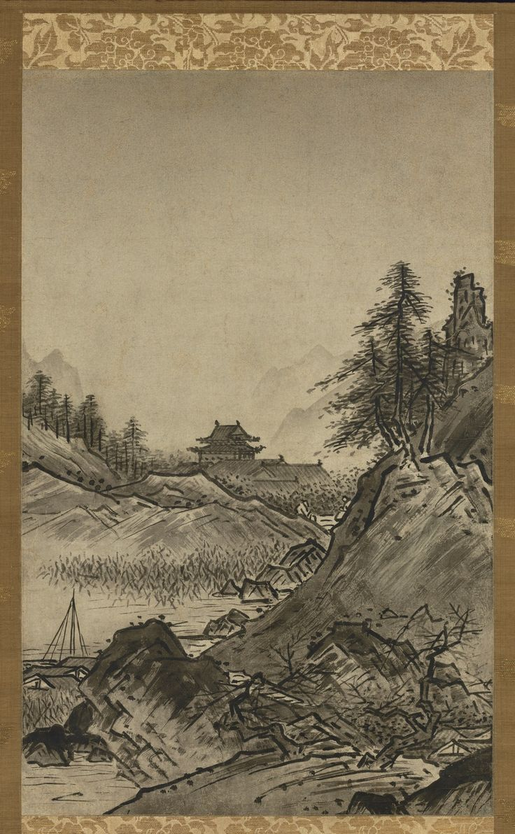 Autumn and Winter Landscapes - By Sesshū Touyou,  Muromachi period/end of 15th century- start of 16th century