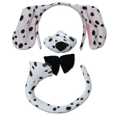 Dalmatian Set Ears On Headband Noisy Nose Bow Tie & Tail Fancy Dress Animal Accessory   Accessories   Crusader Party