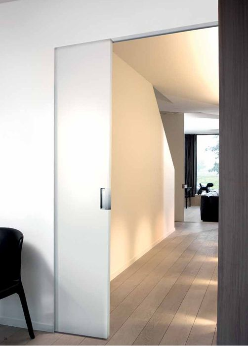 Bouwpakket schuifdeur in de wand HOUT tijdloos Voor deuren max 231,5 x max 1,03