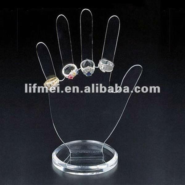 De acrílico de acrílico joyas góndolas/mostradores/expositores
