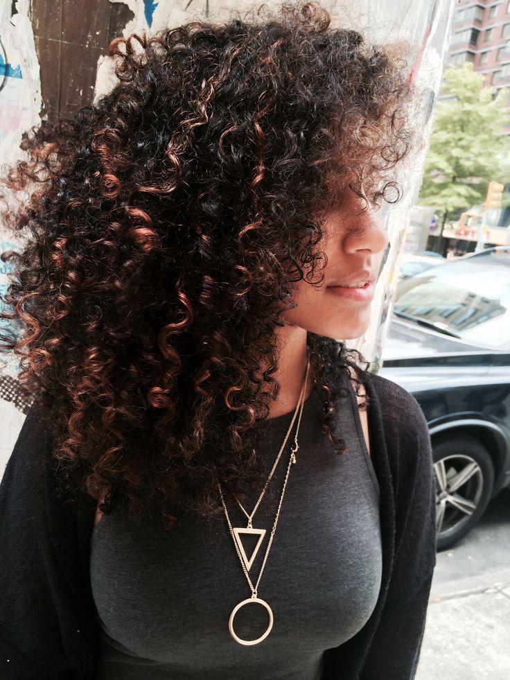 Balayage   Brunette   Curly hair   Beautiful  