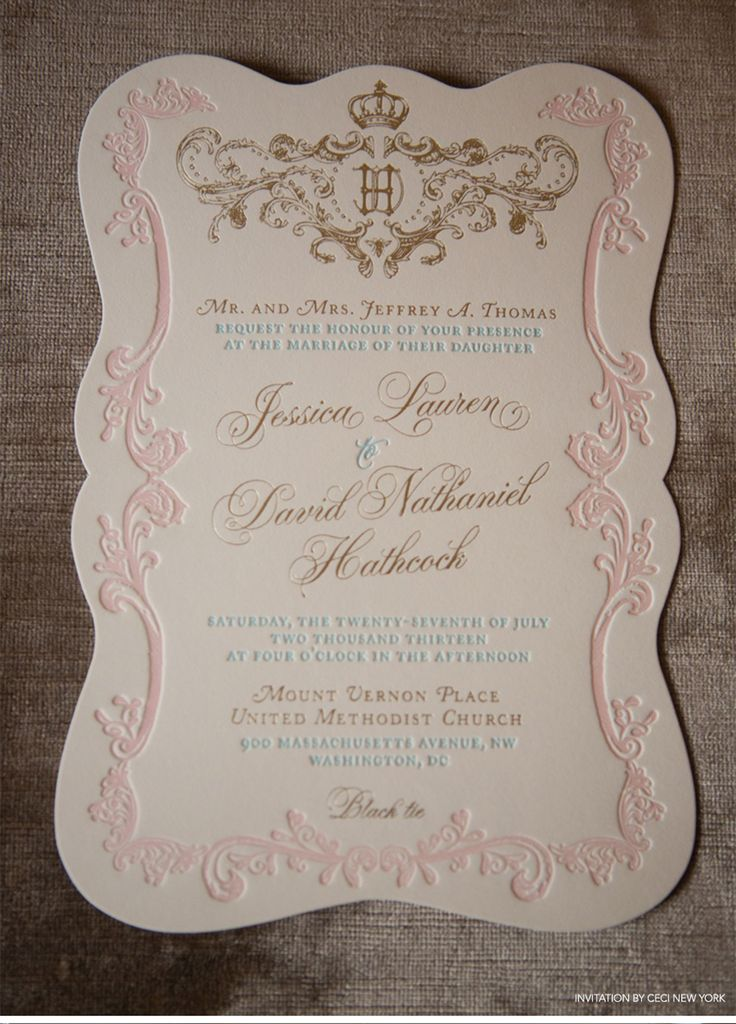 Regal French-Inspired Wedding - Monogram in shades of gold and sweet pastels - ceci new york