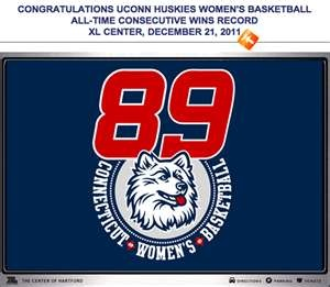 ... UCONN HUSKIES WOMEN'S BASKETBALL ALL-TIME CONSECUTIVE WINS RECORD