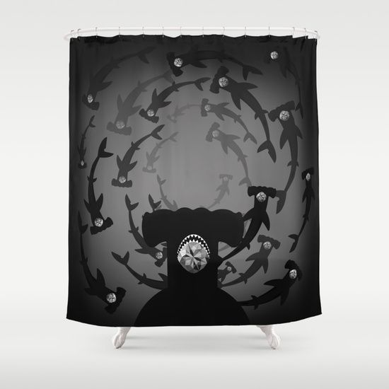 Hammerhead Shark - Silver Topaz Shower Curtain