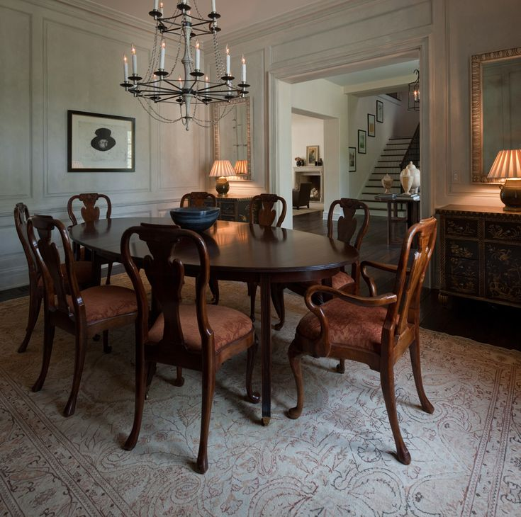 Stucco Manor Dining Room New Traditional French Home