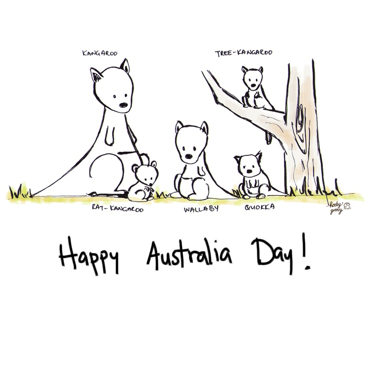 Happy Australia Day! :D One thing I love about Australia is the diverse wildlife consisting mostly of different sized versions of kangaroos ;)
