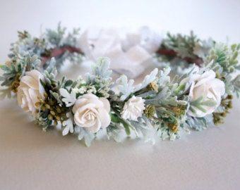 Corona de flores corona de flor rosa primavera boda corona