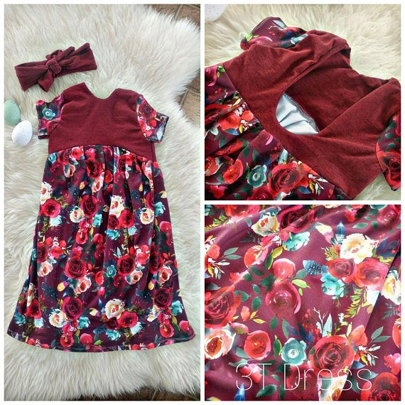 Spring/summer 2018 toddler girl fashion. This floral scoop back dress is gorgeous. 🌹