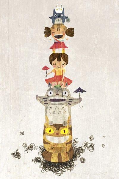 """#DearSays #whydontyou watch """"My Neighbor Totoro"""", an all time classic from Ghibli? And this #cute #illustration tops it off! * Kenapa tidak kalian menonton film klasik sepanjang masa dari Ghibli, """"My Neighbor Totoro""""? Dan ilustrasi ini adalah kenangan manis dr filmnya!"""