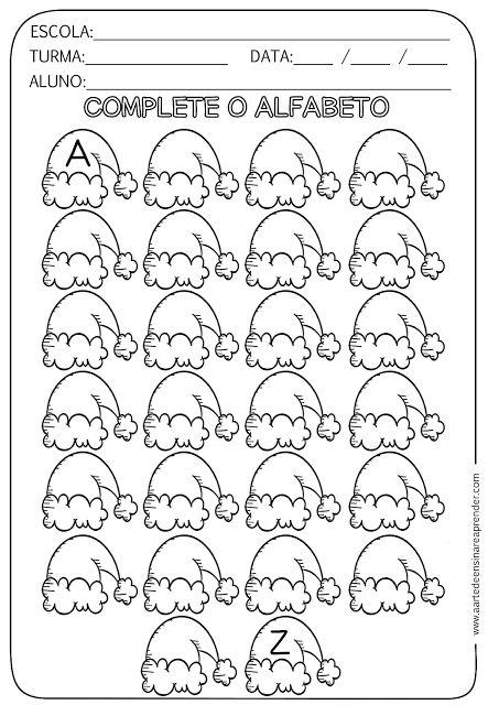 Atividade pronta - Alfabeto com temática natalina