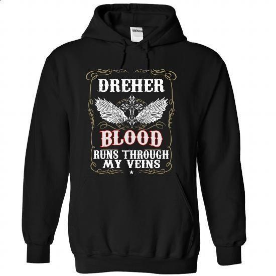 (Blood001) DREHER - #funny tshirts #dress shirts for men. CHECK PRICE => https://www.sunfrog.com/Names/Blood001-DREHER-xtmcnfvmon-Black-50358436-Hoodie.html?60505