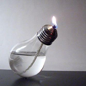 Lampe à huile - ampoule