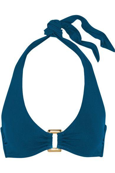 Heidi Klein - San Diego Halterneck Bikini Top - Storm blue - x large