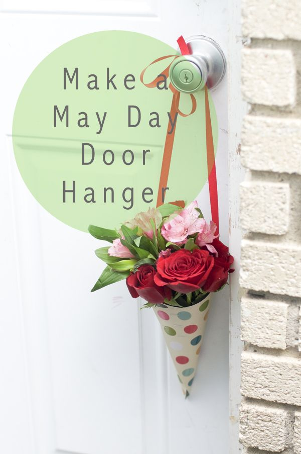 Make a May Day Flower Door Hanger, this would be a neat idea, but i am not to fond of hanging it on the door knob. maybe if it was hanging on the door itself