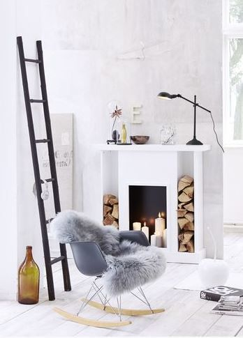 wood stacked around fireplace-kitchen hearth room